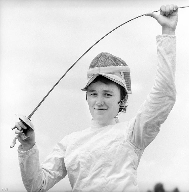 Tordasi IldikóAz olimpiai aranyérmes vívónőről ez a kép 1972-ben készült