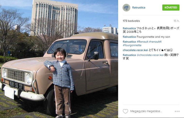 F4-es Renault-t már nálunk is alig látni, de a mai japán forgalomban még szürreálisabb jelenség lehet.