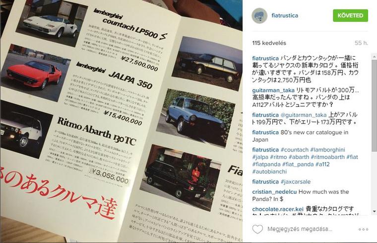 Olasz autók egy japán kiadványban