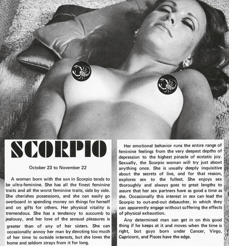 """""""A Skorpió nő szexuálisan egyszer mindent kipróbál, általában igen kíváncsi az élet titkaira, emiatt a szexet is a lehető legteljesebben fedezi fel"""