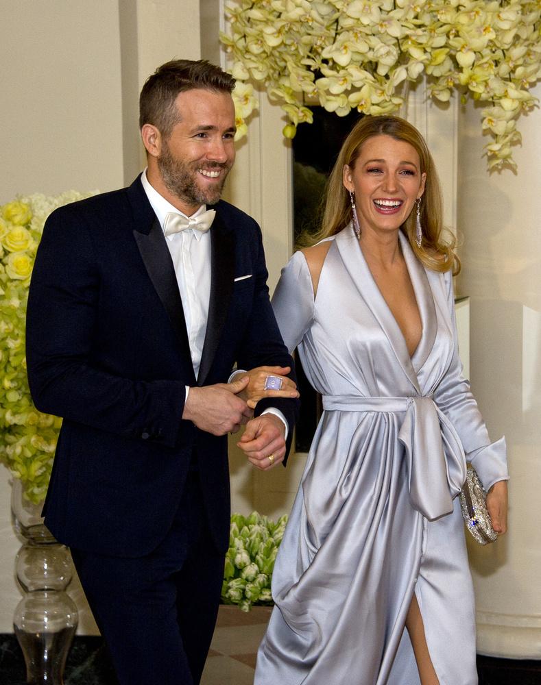 A tegnap este egy, a Fehér Házban tartott miniszterelnöki csúcstalálkozóról szólt a színésznő és férje, Ryan Reynolds számára