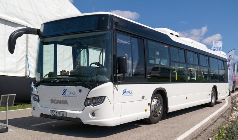 A szegedi Scania buszok egyike - ez az első városibusz-értékesítés itthon a márkánál