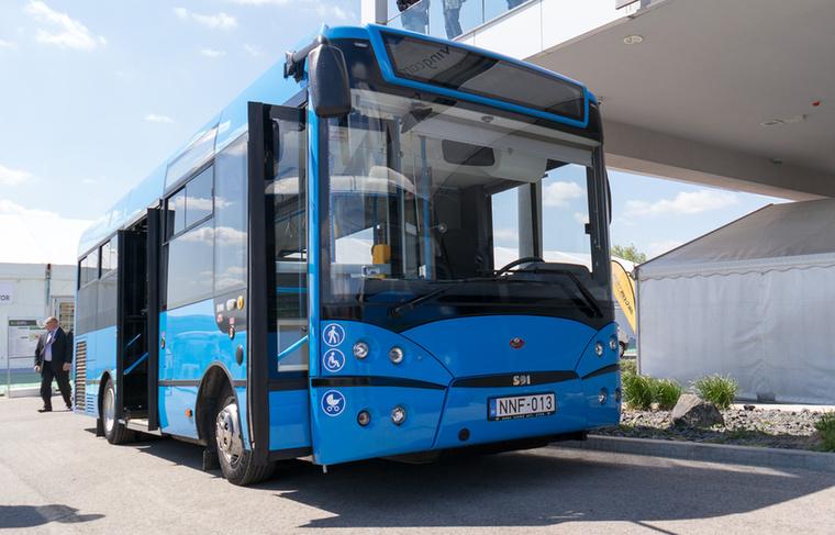 Az S91-es magyar midibusz is itt volt, méghozzá Euro 6-os motorral