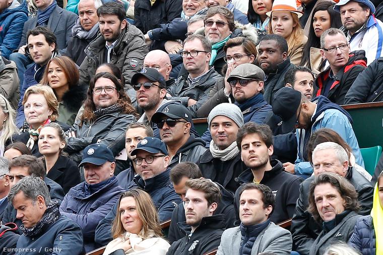 Leonardo DiCaprio a French Open Roland Garros teniszbajnokság 13