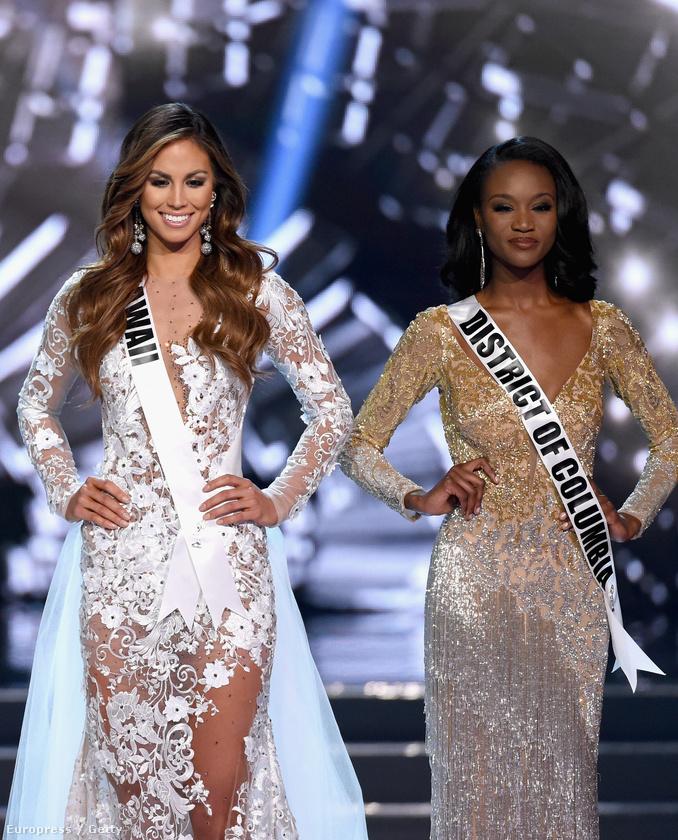 Jobbján a második helyezett, Miss Hawaii