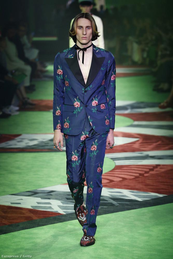 Nem csak a fiúk és a lányok közötti határ elmosásában érdekelt a Gucci újabban, hanem úttörő módjára próbálják elmosni az öltöny és a pizsama közötti határokat is! Palotaforradalom!