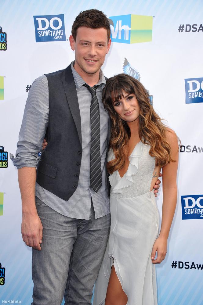 Lea Michele és Cory Monteith, a Glee-Sztárok leszünk! című sorozat szereplői három évig élvezhették egymás társaságát a forgatásokon kívül is