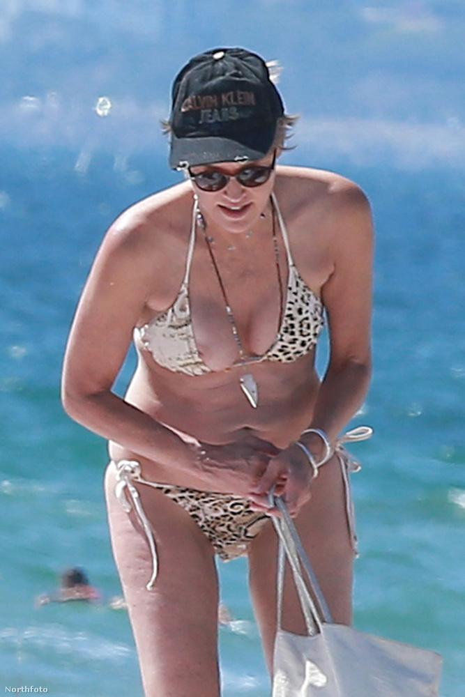 Na, így tessék nézni Sharon Stone mellbimbóját!