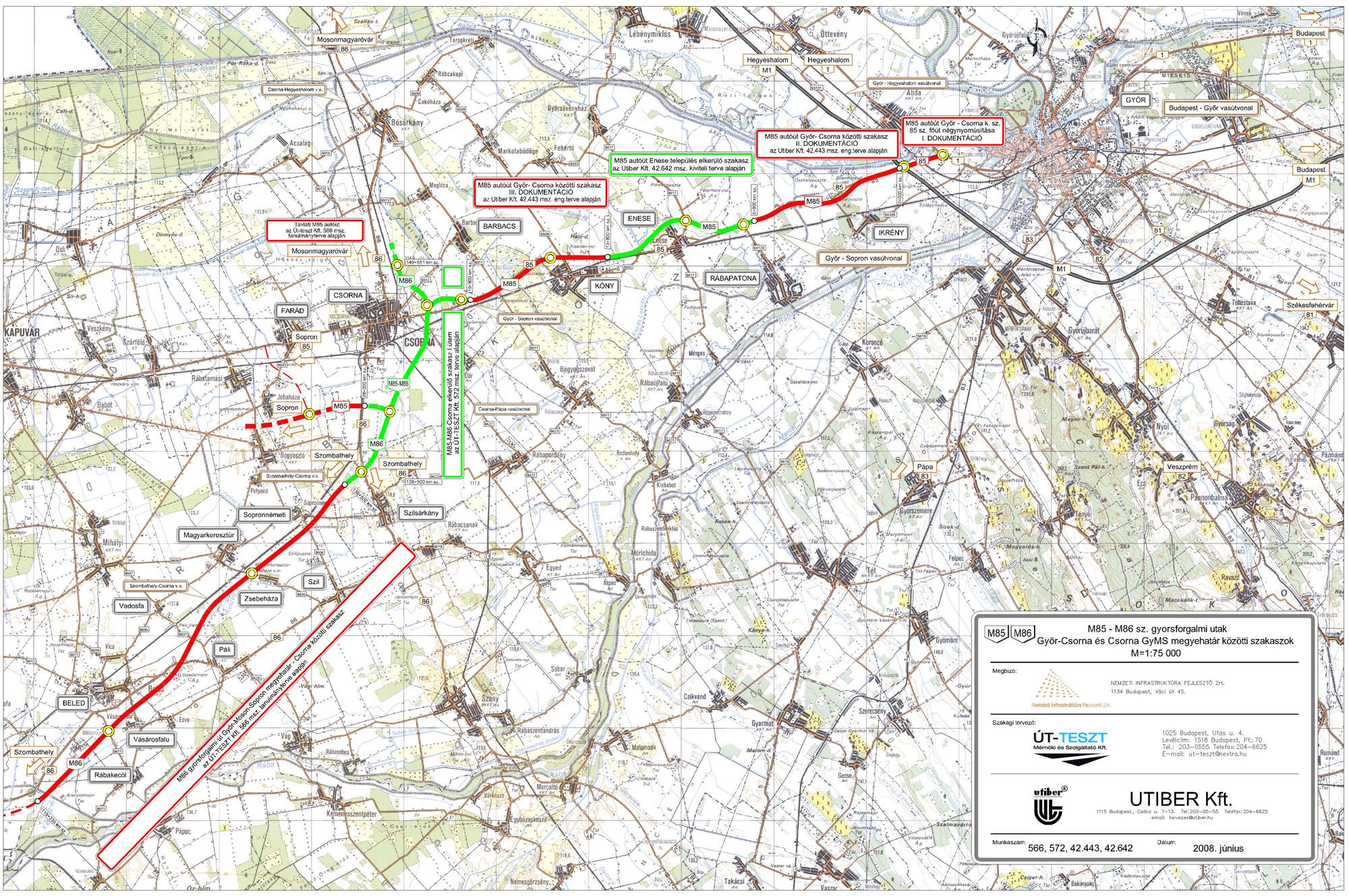 magyarország térkép csorna A M85 gyorsforgalmi út