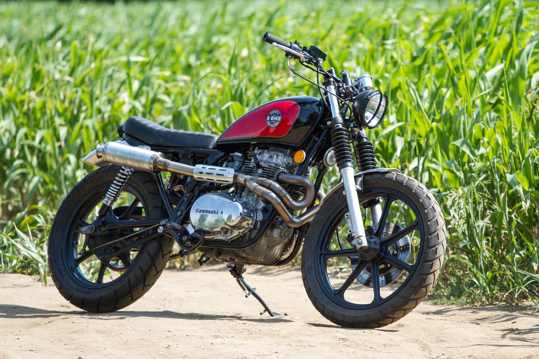 Kevés pénzből is lehet szépet építeni Custom  Kawasaki LTD440 Tracker -  1982. ad9cfd0e86