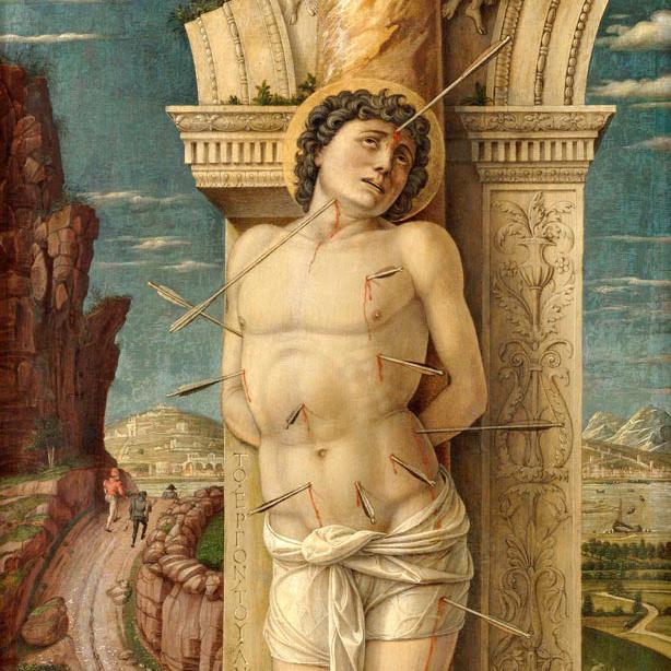 Andrea Mantegna: Szent Sebestyén (a teljes festményért katt a képre)
