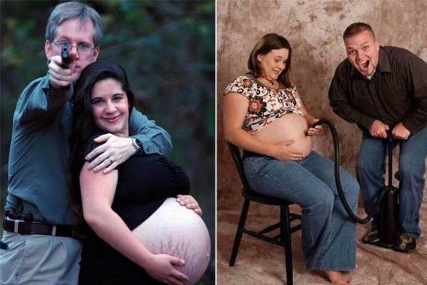 az ember tolja a terhes feleséget hogy lefogyjon)