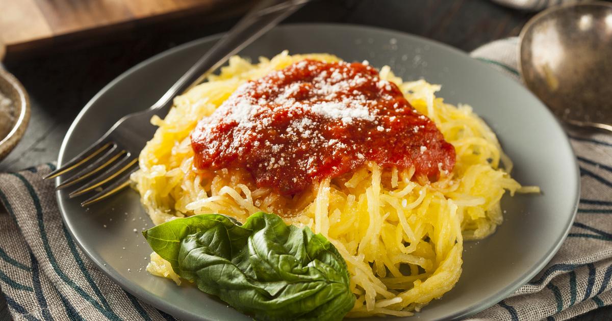 fogyjon spagetti tökkel
