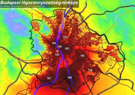 légszennyezettség budapest térkép Index   Belföld   Durva a miskolci és a debreceni szmogszint légszennyezettség budapest térkép