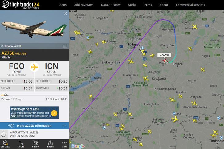 3013ad8fe586 Index - Belföld - Utasrosszullét miatt Ferihegyen landolt egy ...
