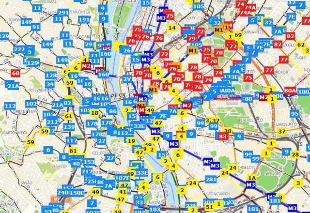 bkk térkép Index   Tech   Kamu a valós idejű BKV térkép bkk térkép
