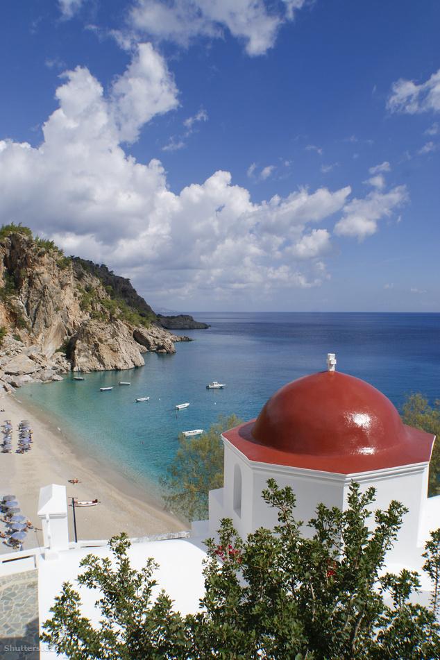 Kyra Panagia az egyik legszebb strandjának számít