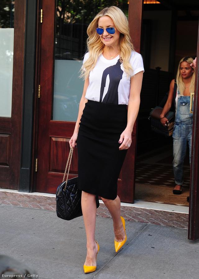 Goldie Hawn lánya ceruza szoknyával passzintotta össze.