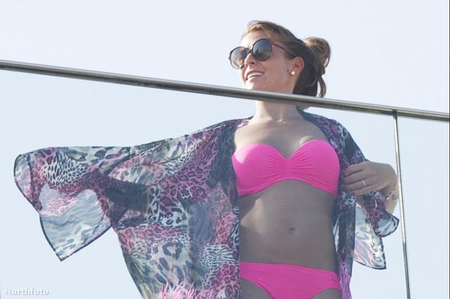 Wayne Rooney felesége, Coleen Rooney a Fasano hotel tetején Rióban