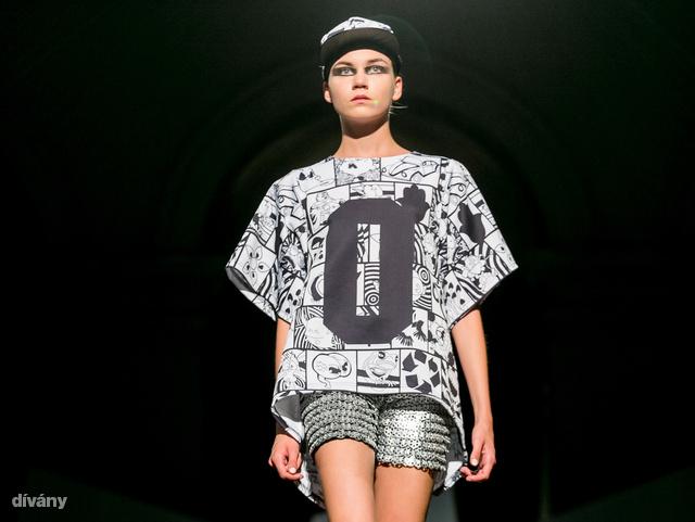 """Gálos Bettina """"Urban couture"""" kollekciója az aktuális sportos-fiatalos-fast fashionbe illő stílusra ment rá."""