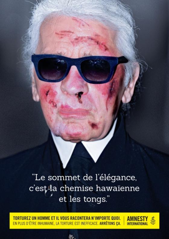 Karl Lagerfeld sem úszta meg kínzás nélkül