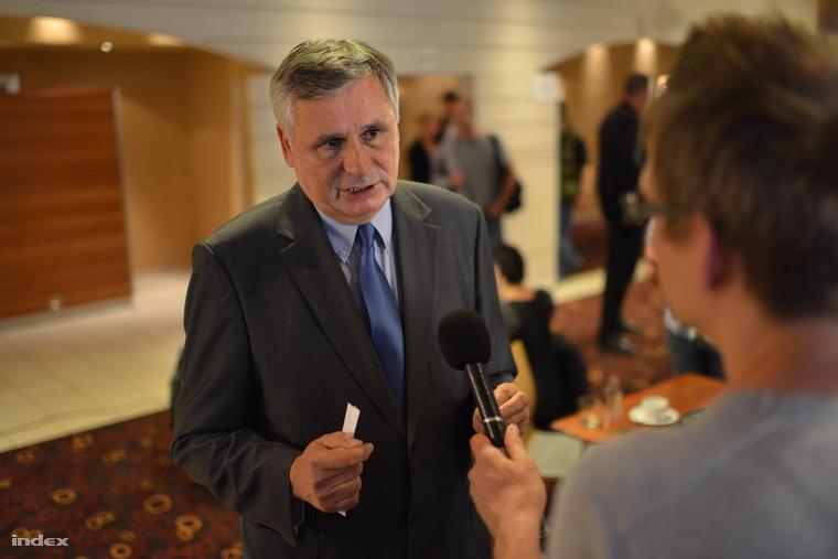 Balczó Zoltán az EP-választás éjszakáján