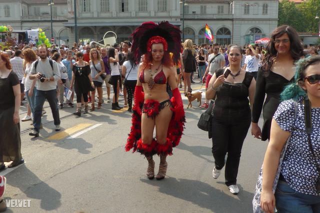 Többen is voltak, akik a riói karnevál hangulatát hozták el észak-Olaszországba