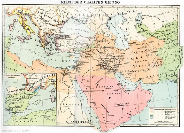 Omajjád kalifátusa 750 körül