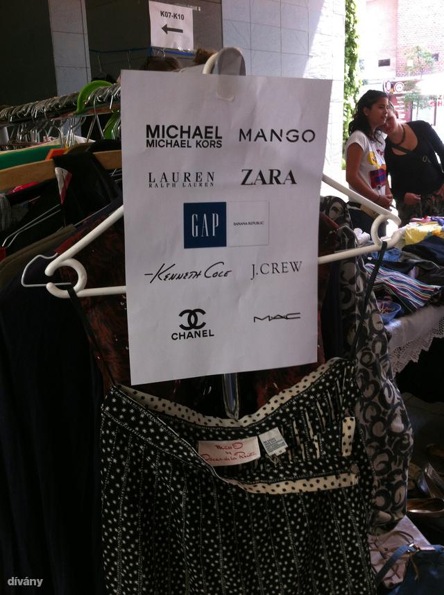 Jó ötlet előre feltüntetni, milyen márkákból áll a kínálat: a Zara és a Mango a legtöbbeknek biztosan csábító.