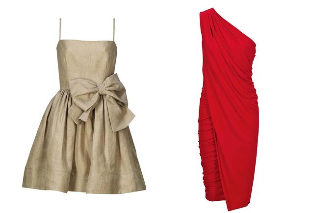 Az Il Bacio di Stilében már 100 ezer forint körüli áron találhatunk szép ruhát. A masnis, bézs Red Valentino ruha 170.900 helyett 119.630 forint. A piros, aszimmetrikus Donna Karan ruha, 501.900 forint helyett 351.330 forint.