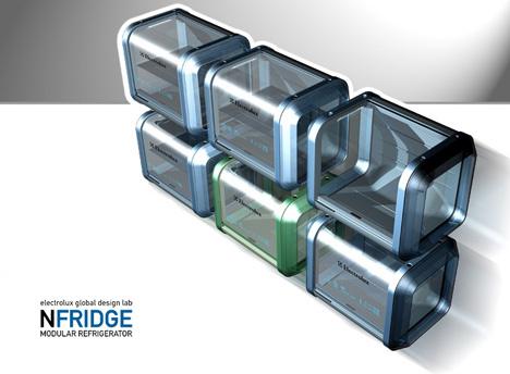 Az nFridge névre keresztelt hűtőt Roger Santos tervezte az Electrolux Global Design Lab megbízásából.