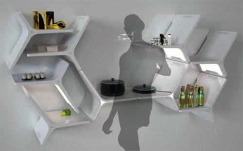 Mathew Gilbride moduláris konyhaterve már annyira modern, hogy első ránézésre olyan, mintha a Jetson család egyik epizódjának eleme lenne.