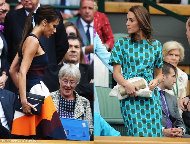 Victoria Beckham vs. Katalin hercegné: Novak Djokovics és a hétszeres bajnok Roger Federer vasárnapi csatáján Wimbledonban, a királyi páholyban.