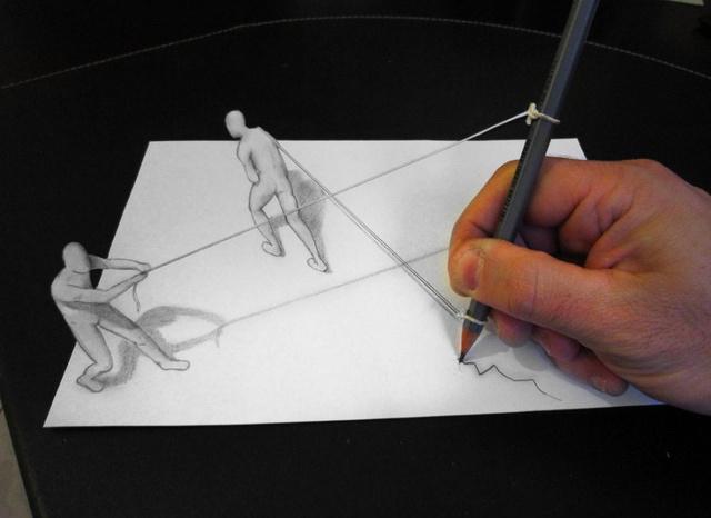 Újabb lenyűgöző 3D-s munkákra bukkantunk a napokban, melyeket ezúttal az olasz származású művész, Alessandro Diddi készít ceruzája segítségével.