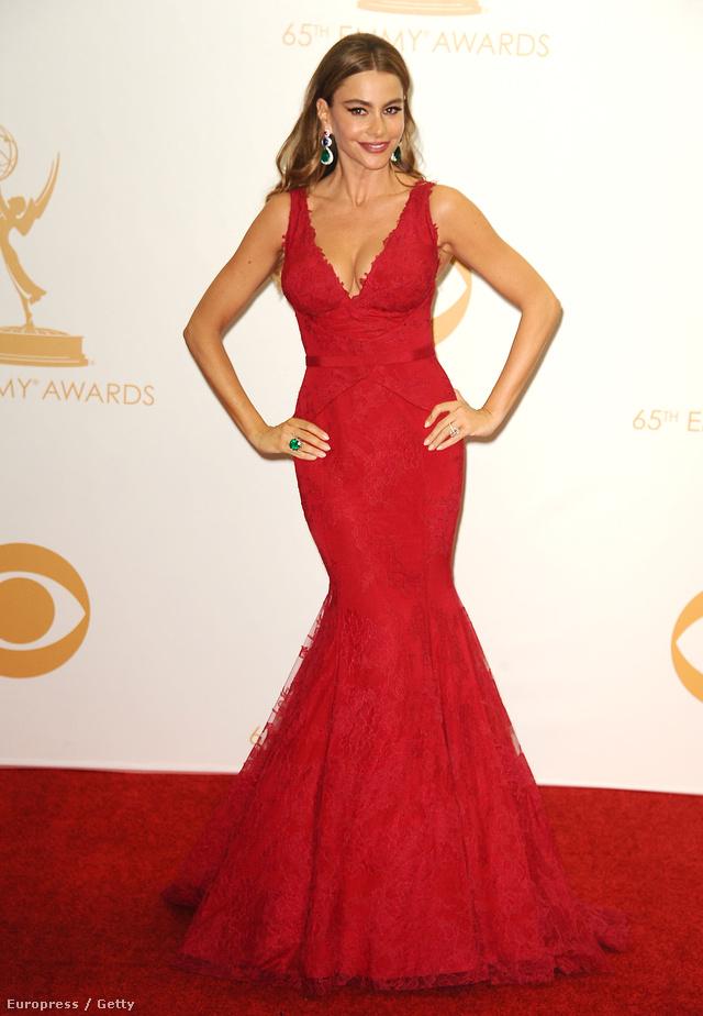 A piros estélyit Vera Wang tervezte a színésznőnek, aki smaragzöld gyűrűt választott a ruhához Lorraine Schwartztól. A ruhában Vergara a 65.Annual Primetime Emmy Awardson jelent meg 2013-ban.
