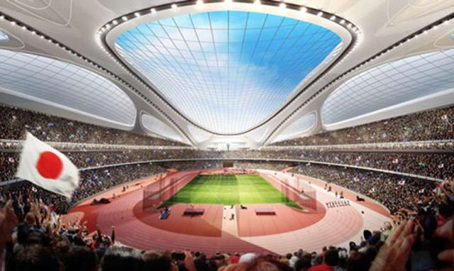 Több száz milliárdból építik fel a stadiont Tokióban.