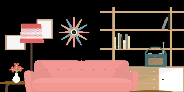 Az ötvenes évek belsőépítészetére általánosságban jellemző volt a modernizmus, a nyílt, fénnyel teli életterek és  a vidám hangulatot árasztó bútorok.