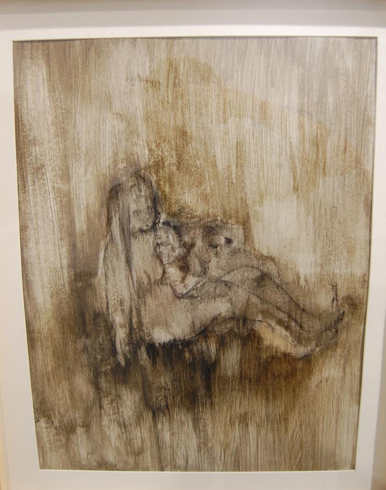 Deng Chunru 900 eurós képe a sencseni hipszternegyed egyik galériájából. Felismerhető az egyén, de beleolvad a környezetébe, nem látszanak pontosan a vonásai. Mintha pont azokról szólna, akik Sencsenben ki akarnak törni a rabiga alól, de erre nincs lehetőségük.