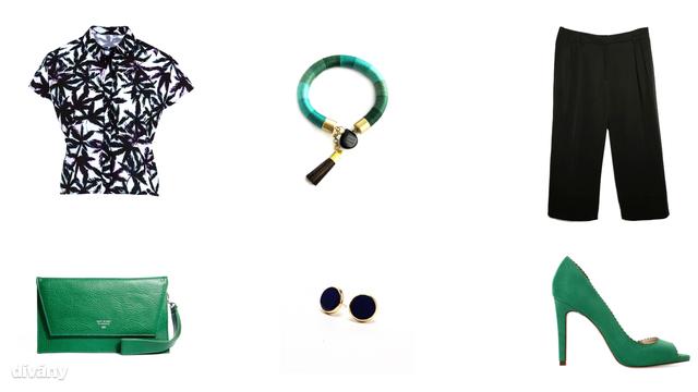 Ing - 4890 Ft (F&F), nadrág - 11995 Ft (Mango), fülbevaló - 500 Ft (Látomás), karkötő - 7900 Ft (Soie Essentielle), táska - 63,38 euró (Matt & Nat/Asos), cipő - 5995 Ft (Zara)