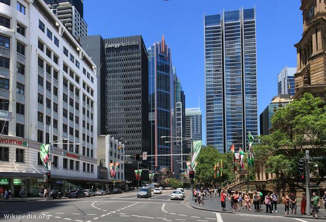 A forgalmas George Street, egyelőre Cloud Arch nélkül