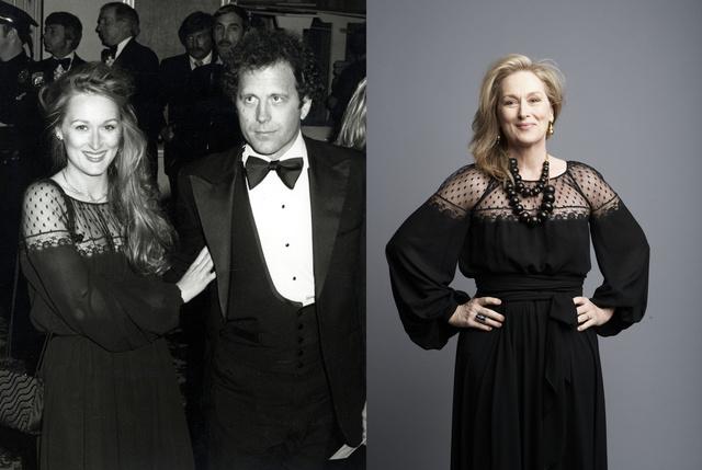 Balra az 1979-es Oscar díjátadón, jobbra pedig a 2009-es BAFTA-fotózáson.