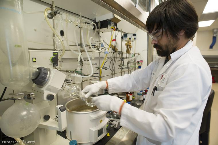 Egy kutató a Gilead Sciences californiai laborjában