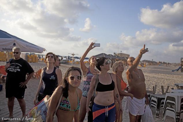 A Tel-Aviv strandja