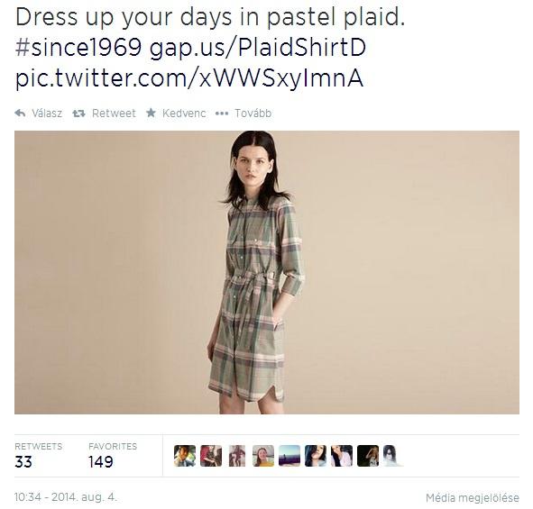 Hivatalos Twitter oldalára posztolta a márka a bejegyzést, ahol kínosan vékony modellen hirdetik legújabb kollekciós ruhájukat.