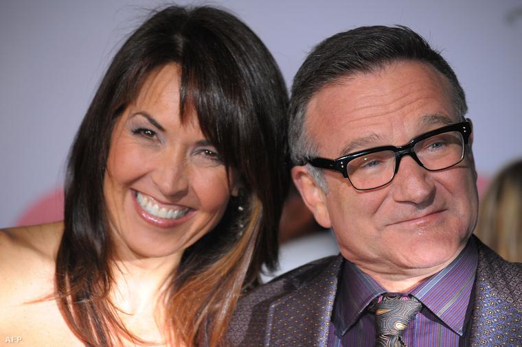 Robin Williams És Susan Schneider 2009-ben, a Vén csontok (Old Dogs) című film premierjén, Hollywoodban.