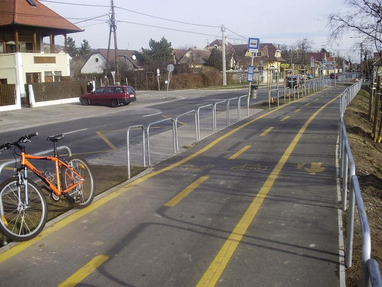Kerékpárút Budaőrsön