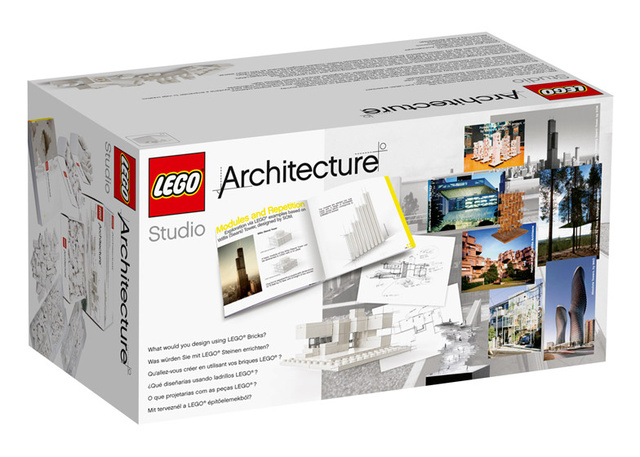 Ebből a készletből kimaradtak a Lego tipikus merész alapszínei, a Lego Architecture Studio ehelyett a monokróm rendszerre épül, ezért fehér és átlátszó elemeket tartalmaz.