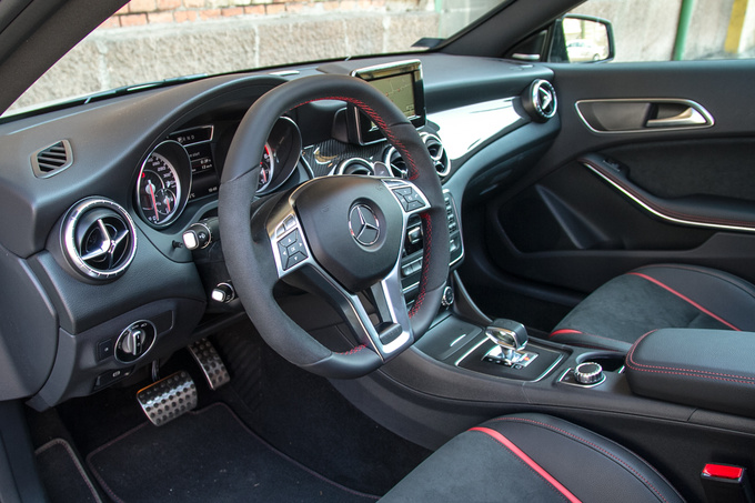 Sports steering wheel and familiar surroundings. It is ergonomic but not the best out there.