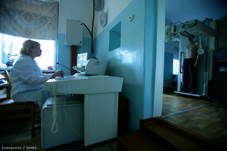 Röntgenszoba egy ukrán kórházban