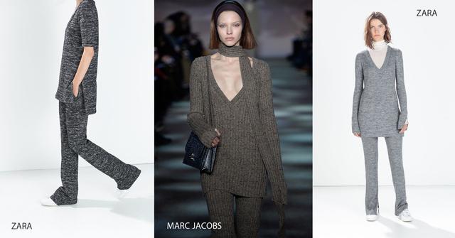 A két oldalon Zara, közte pedig Marc Jacobs 2014 őszi-téli kollekciójának egy darabja